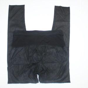 Isabel Benenato Black Leather Skinny Pants Soft 42